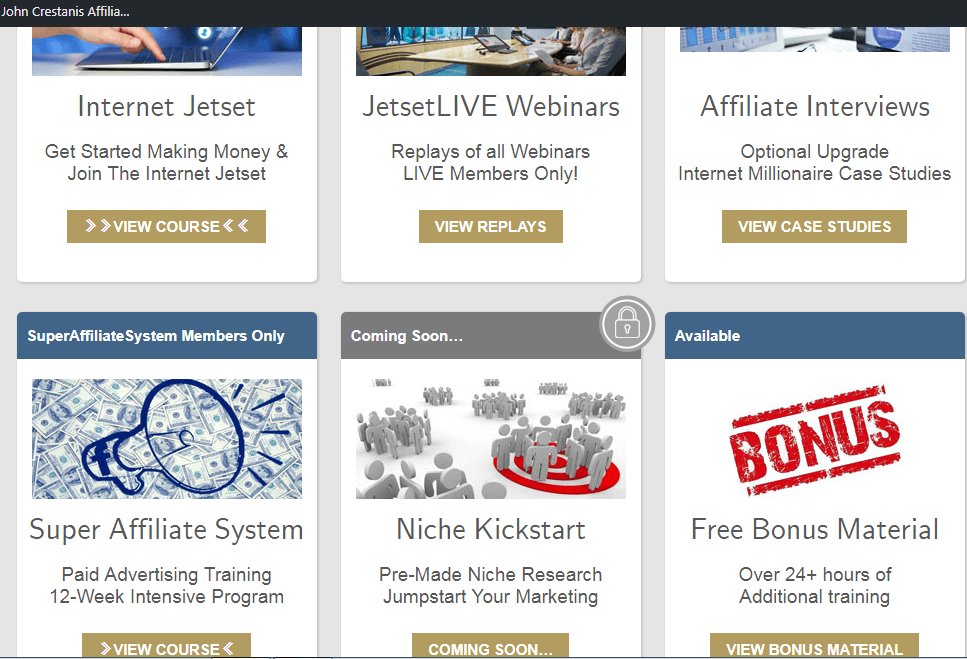 Internet JETSET review - Affiliate marketing with free
