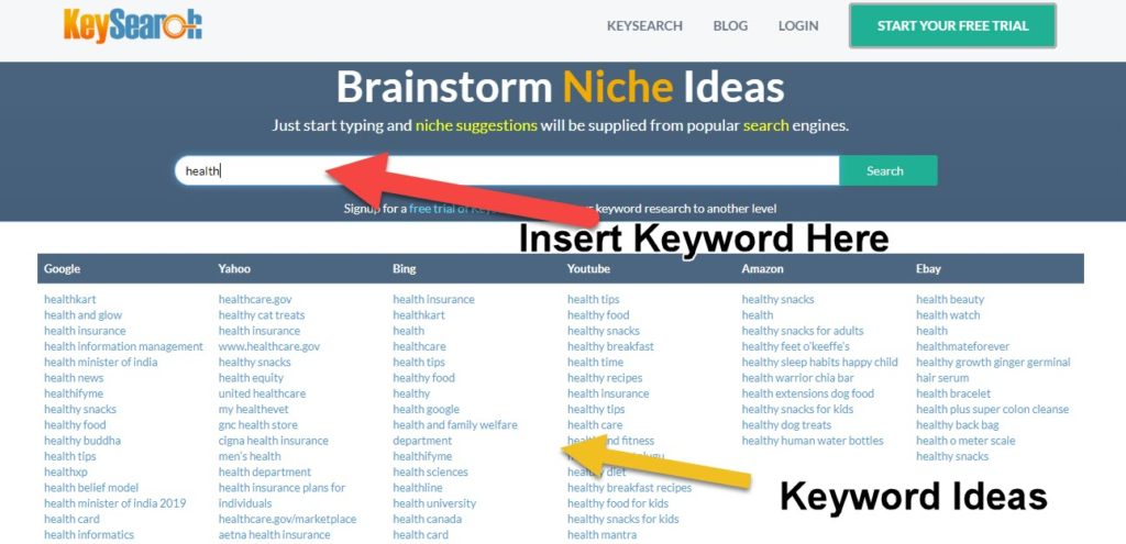 blog niche idea generator