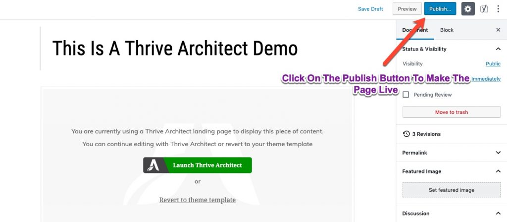thrive page builder demo