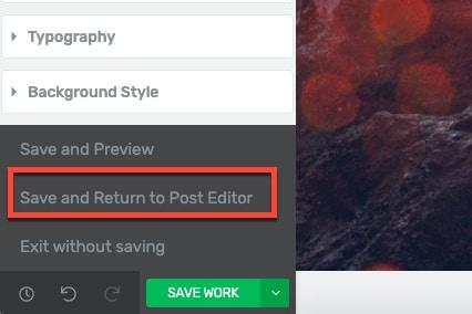 save landing page