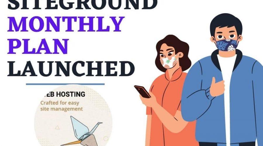 Siteground Monthly Plan