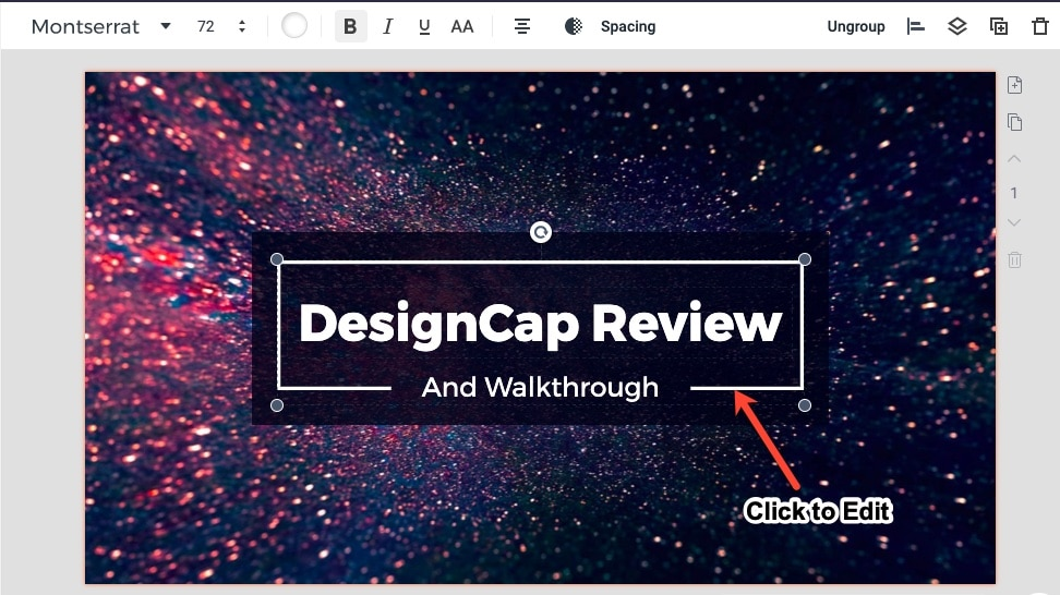 editing image in designcap
