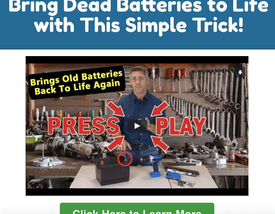 ez battery landing page