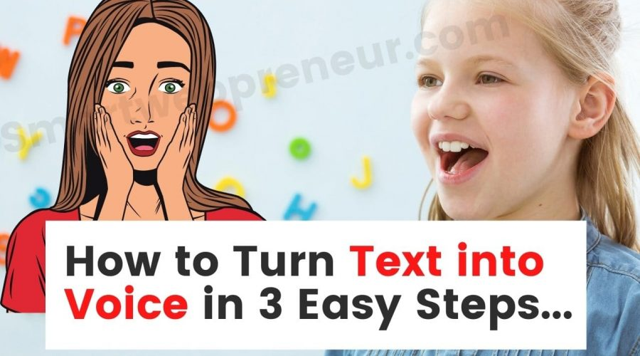 turn text to voice