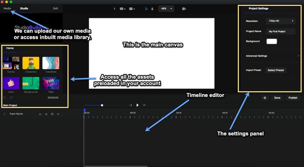 create studio interface