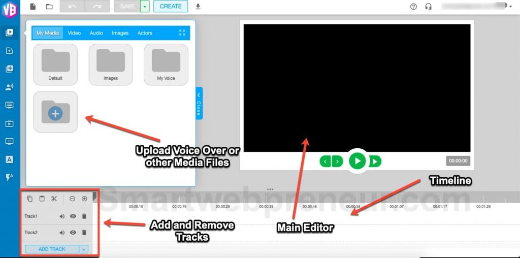 upload media to video builder