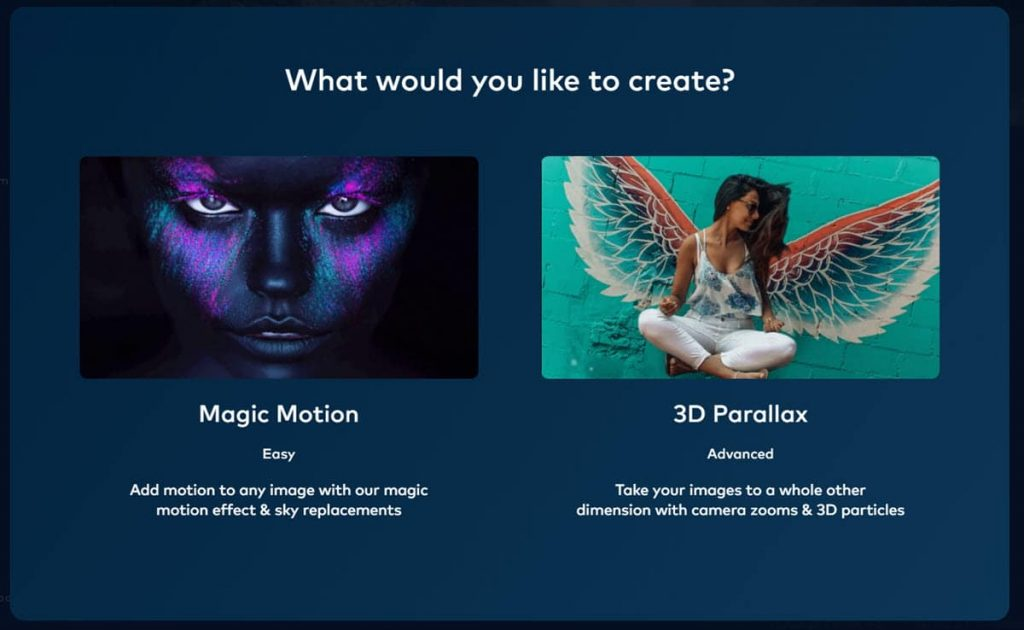 PhotoVibrance animation types